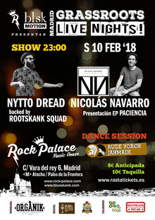 Nytto Dread & Nicolás Navarro backed by Rootskank Squad: Grassroots Live Nights