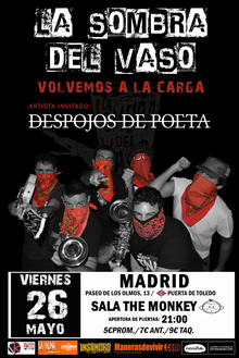 La Sombra del Vaso + Despojos de Poeta - Sala The Monkey (Madrid)