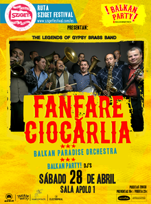 Balkan Party! Fanfare Ciocarlia en Barcelona,  28 de Abril 2018