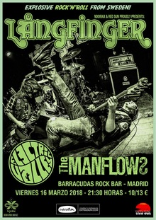 Långfinger + Electric Valley + The Manflows en Madrid